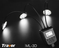 Eclairage/Flash LED avec 3 tubles Flexibles pour macro studio Canon Nikon