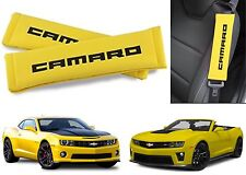 Black & Yellow Camaro Logo Seat Belt Shoulder Pad Cushions New Free Shipping USA