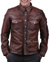 Soft lamb leather shirt