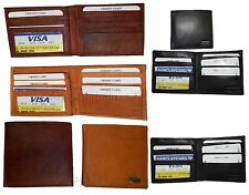 New man's billfold wallet, 8 card spaces ID window Suede lined interior Brand BN