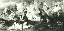 Mythology, CENTAURS FIGHT PRETTY NAKED NUDE YOUNG WOMEN GIRLS ~ 1892 Art Print