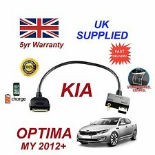 para Kia Optima iPhone 3 3gs 4 4s Mayoría iPod USB & 3.5mm Aux Audio Cable 2012+