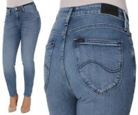 Lee Damen Jeanshose Scarlett High Waist Skinny Blau (Cool Daze) W25 - W31
