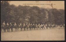 Postcard ELLWOOD CITY Pennsylvania/ PA  Young Camp Equestrians on Horseback 30s