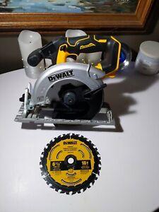 "DEWALT 20V Brushless  6 1/2"" Circular Saw Model# DCS565  Bare Tool USED"