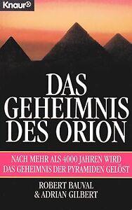 Das Geheimnis des Orion - Buch von Robert Bauval & Adrian Gilbert - Knaur TB