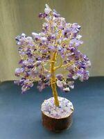 Amethyst Stone Reiki Tree Spiritual FengShui Vastu Healing Crystal Home Decor