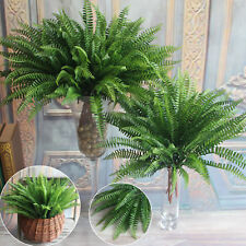 Artificial Persian Leaves 7 Branches Green Fake Plants Floral Grass Garden Decor