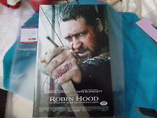 Robin Hood  Russell Crowe   Autographed  11X17 PHOTO  PSA DNA  Certified