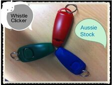pet dog training whistle clicker combination-Aus stock (1 Whistle/Click)