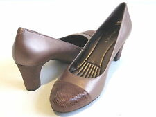 46718665f51 Easy Spirit Raphael Womens Size 10 Bronze Leather PUMPS HEELS Shoes