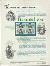 # 2024 PONCE DE LEON, OLD WORLD EXPLORER 1982 COMMEMORATIVE PANEL