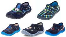 Viggami Jungen Kinder Hausschuhe Textil Kindergarten Tubis 23-30 Lederinnensohle