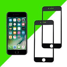 """2x 3D Displayschutz Panzerglas für iPhone 8 4,7"""" Full Cover Echt Glas 9H Schwarz"""