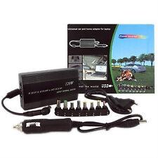 ALIMENTATORE UNIVERSALE 120W NOTEBOOK PC PER AUTO 12v + CASA 220v USB UNIVERSALE
