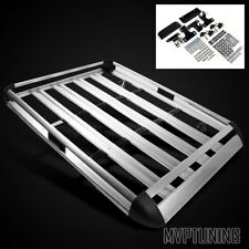"63"" x 44"" Silver Aluminum Roof Mounted Luggage Rack Holder/Cargo Carrier Basket"
