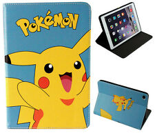 For Apple iPad Mini 1 2 3 4 Happy Pokemon Pikachu Pokeball Stand Case Cover