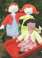 KINDER GIRLS - Sewing Craft PATTERN - Soft Toy Felt Rag Doll Bear Rabbit