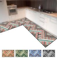 Tappeto cucina patchwork angolare o passatoia su misura al metro mod.FAKIRO34