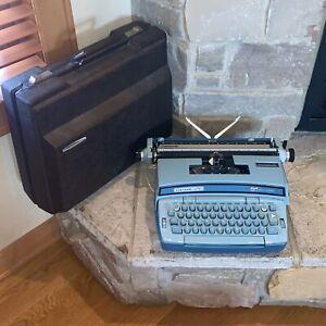 Working Smith Corona Blue Coronet Super 12 Automatic Electric Typewriter 6LEA