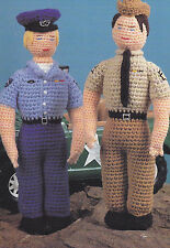 Crochet Pattern ~ MILITARY DOLLS Army & Air Force Stuffed Doll ~ Instructions