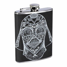 Sugar Skull D18 8oz Hip Flask Stainless Steel Day of the Dead Los Muertos Art
