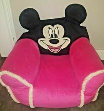 DISNEY Minnie Mickey Mouse ribbon Square Bean Bag Kid soft plush soft Chair Pink