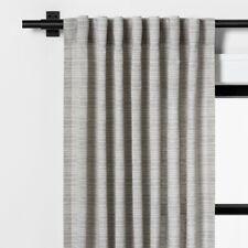 Hearth & Hand Fine Stripe Curtain Panel Gray Sour Cream 54 x 95