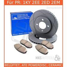 für VW BORA Variant 1J6 HA ATE Powerdisc Bremsscheiben Beläge Hinterachse