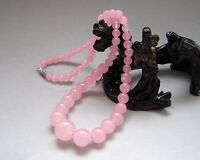 """NEW Fashion 6-14mm Natural Pink Rose Quartz Tower Beads Necklace 18"""" JN30"""