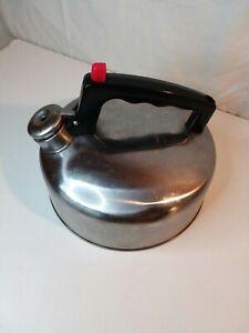 Vintage Stainless Steel/ Aluminum Stove Tea Kettle