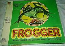 Vintage 1981 Frogger Strategy Board Game by Milton Bradley For Ages 7 to14