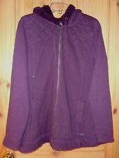 Eddie Bauer Purple Faux Fur Lined Hooded Coat, Women's L