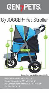 NEN Gen7Pets Jogger Pet Stroller, Blue Pathfinder