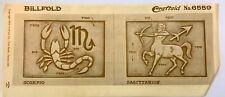 Vintage Leather Stencil Astrological Signs Scorpio Sagittarius Craftaid No. 6559