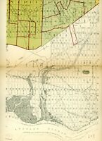 Vintage 1910 Stokes Iconography of Manhattan Map plate New York city 96th st 125