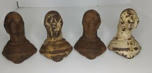 Set Of 4 Original Antique Cast Iron Ball And Claw Foot Tub Feet Vintage