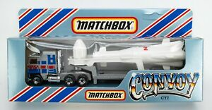 1983 Matchbox Convoy CY2 Kenworth Rocket Transporter SILVER / WHITE / NASA