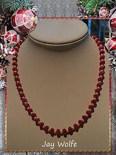 Unique BRASILIANA RUBINO Collana di perline fatti a mano gioielli @ Jay Wolfe