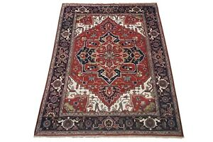 """9X12 Serapi Hand-Knotted & Veg Dyed Wool Area Rug Oriental Carpet (8'11"""" x 12')"""