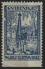 Germany Boys Welfare (Knabenhort Wohlfahrtsmarke) unused cinderella stamp