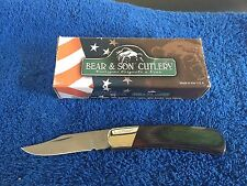 65060 Forney Bear and Son Camo Wood Lockback Knife, 3-Inch (C196)