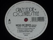 """Crazy Eddie & QQ Freestyle:  Nena De Ibiza  UK  NM PROMO   7"""""""
