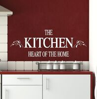 LARGE KITCHEN QUOTE HEART OF THE HOME WALL STICKER TRANSFER DECAL