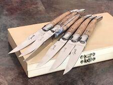 Original Laguiole 6 Piece Steak Knives Wood Handles In Gift Box New