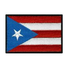 "PUERTO RICO FLAG IRON ON PATCH 3"" Embroidered Applique Puerto Rican Pride Emblem"