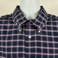 Brooks Brothers 1818 Regent Non Iron Mens Purple Check Dress Button Shirt Sz XL