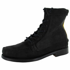 Block Leather Medium (B, M) Width Lace Up Boots for Women