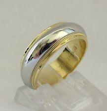TIFFANY & Co. Platinum 18K Gold 6mm Milgrain Wedding Band Ring 5 $2125