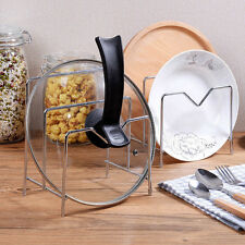 Kitchen Stainless Steel Pan Pot Cover Rack Lid Stand Spoon Rest Holder